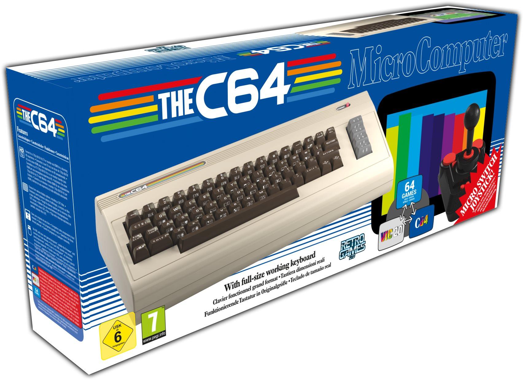 Retro Konzol Commodore C64 Maxi