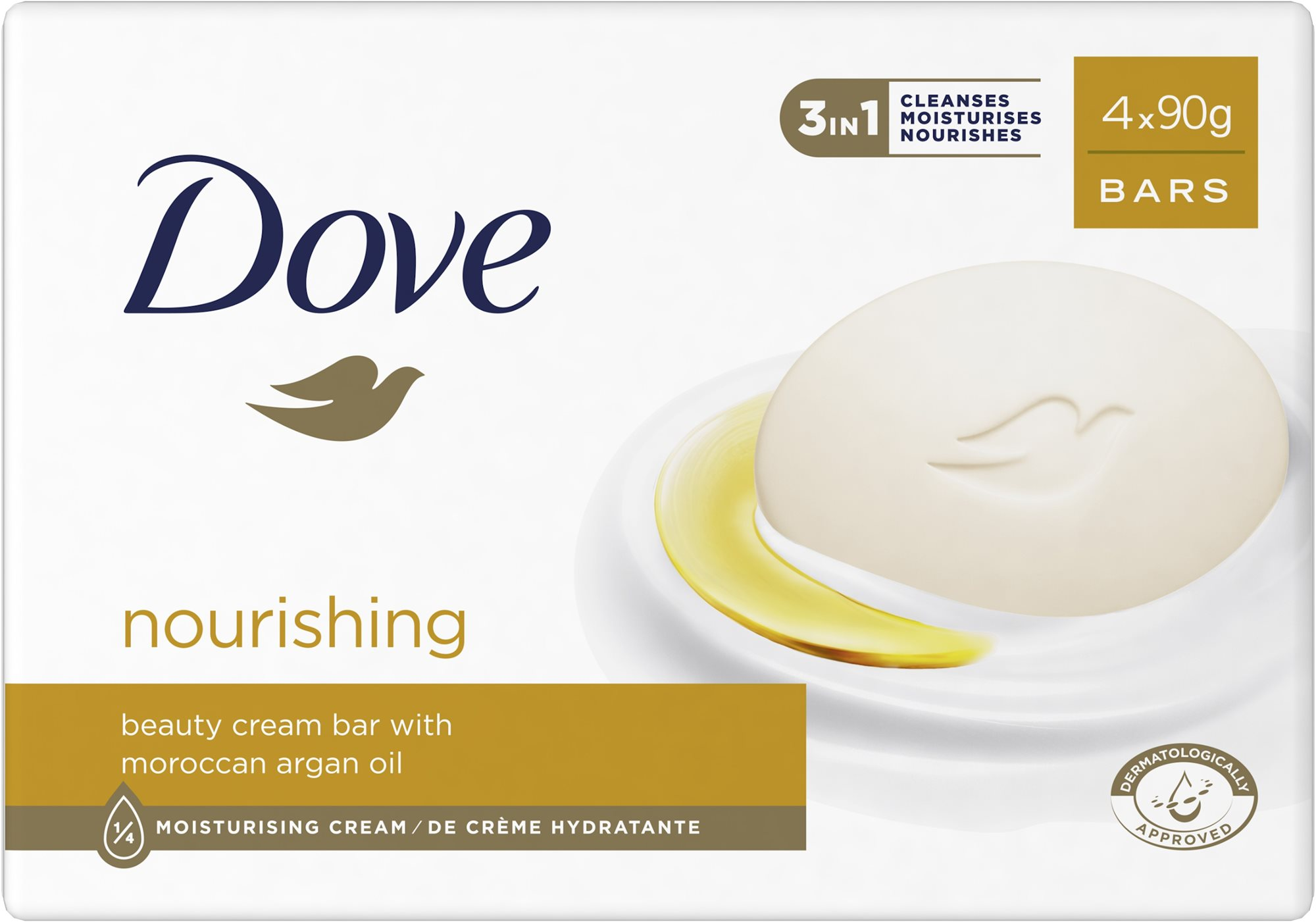 DOVE Supreme Creamoil krémszappan 4x100 g