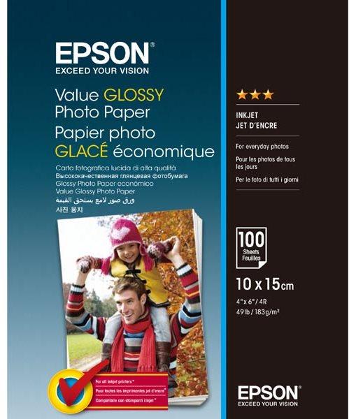EPSON Value Glossy Photo Paper 10x15cm 100 lap