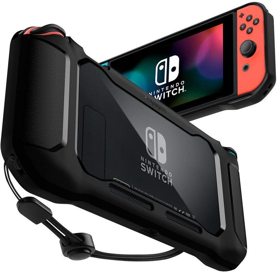 Spigen masszív páncélos fekete Nintendo kapcsoló