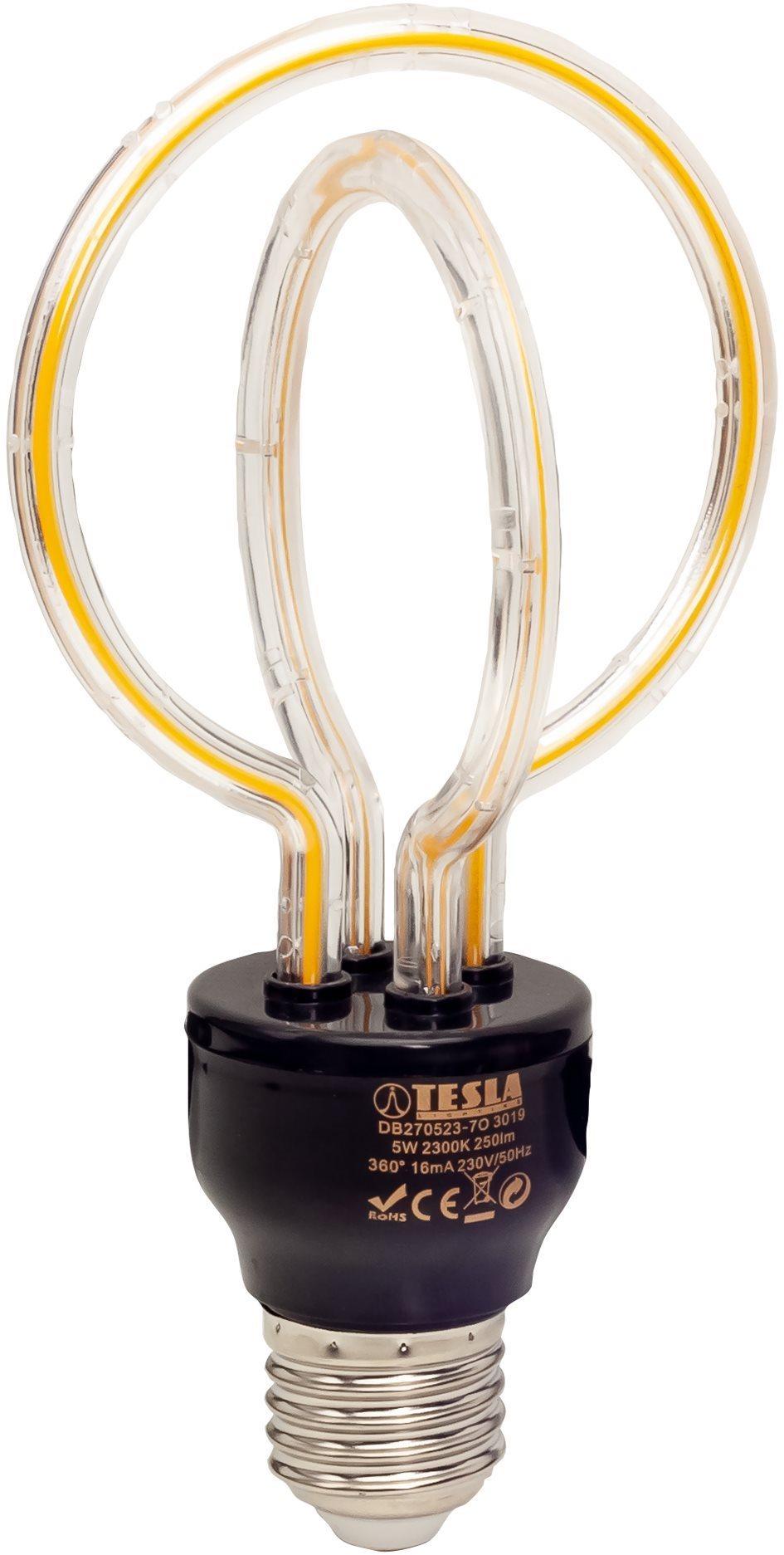Tesla Design BULB filament E27, 5W, 230V, 250lm, 2300K, 360° lotus