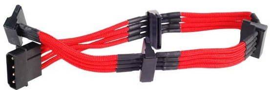 SilverStone PP07-BTSR  Molex-SATA Átalakító piros kábellel