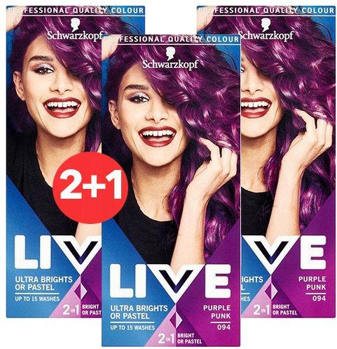 SCHWARZKOPF LIVE 94 Purple Punk 3 × 50 ml
