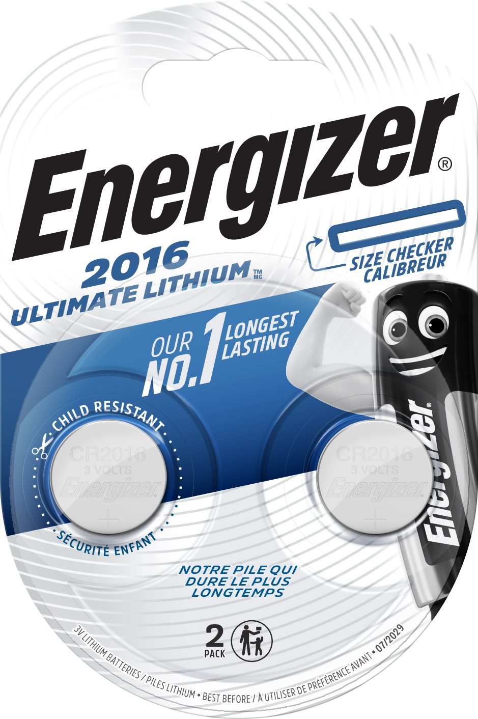 Energizer Ultimate Lithium CR2016, 2 db