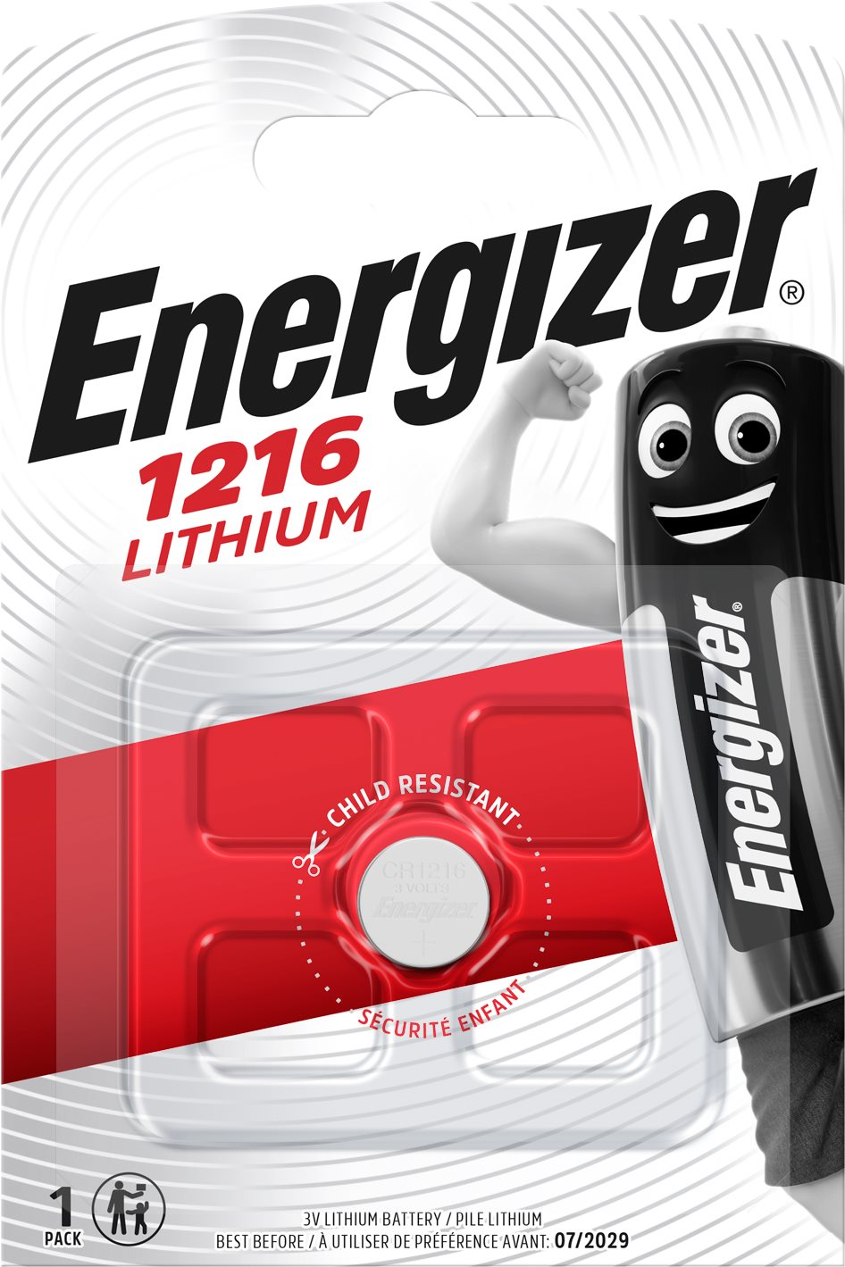 Energizer Lítium gombelem CR1216