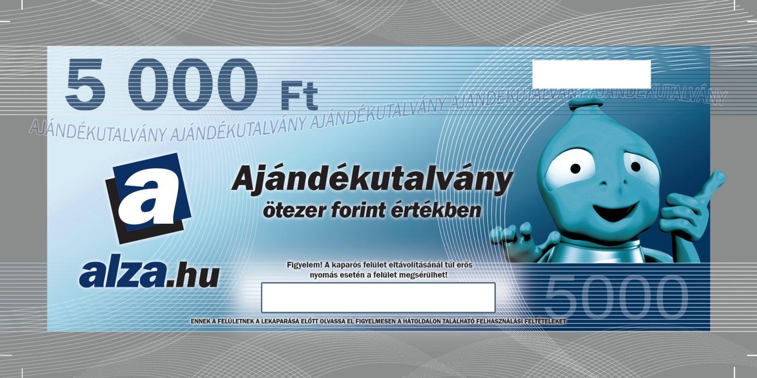 Ajándékutalvány Alza.hu 5000 Ft értékű áru vásárlására