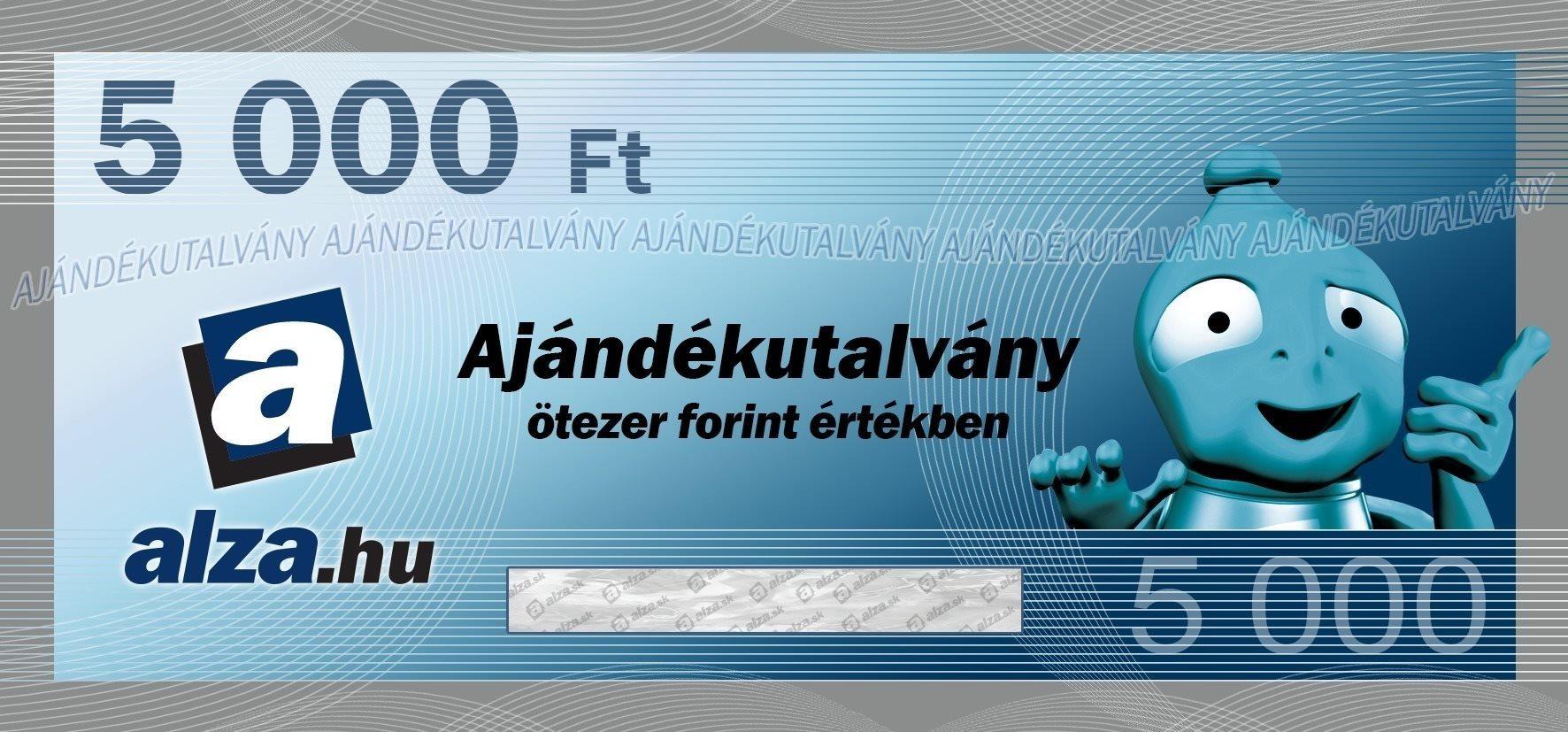 Elektronikus Alza.hu ajándékutalvány 5000 Ft értékben
