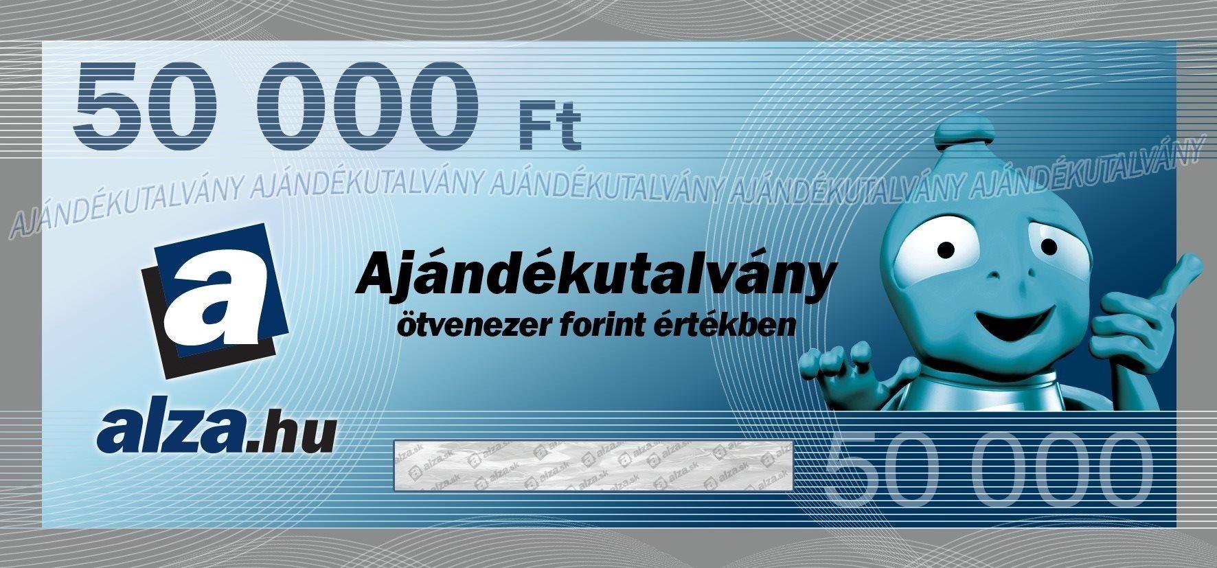 Elektronikus Alza.hu ajándékutalvány 50000 Ft értékben