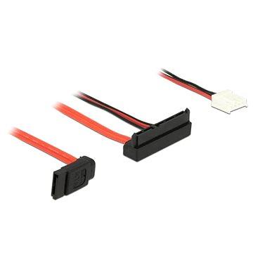 Delock Cable SATA 6 Gb/s 7 pin receptacle + Floppy 4 pin power receptacle (5 V) > SATA 22 pin rec (84850)