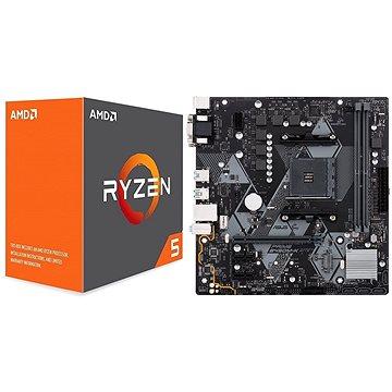ASUS akční balíček MB PRIME B450M-K + CPU AMD RYZEN 5 1600X