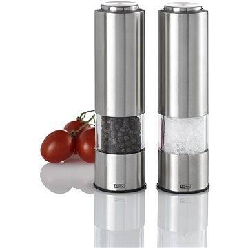 AdHoc Keramický mlýnek na pepř a sůl elektrický LED 2, 2 ks (EP04)