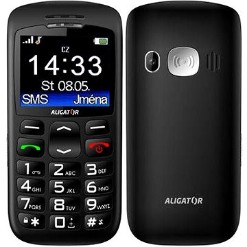 Aligator A670 Senior Black + Stolní nabíječka (A670B)