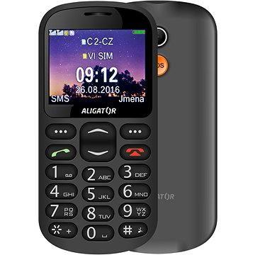 Aligator A880 GPS Senior černý + stolní nabíječka (A880BK)