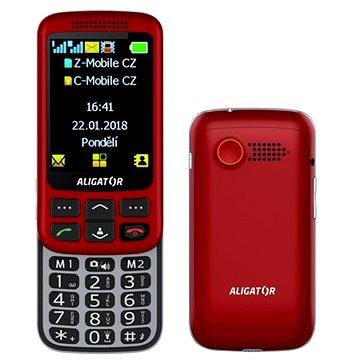 Aligator VS900 Senior červená/stříbrná + stolní nabíječka (AVS900RS)