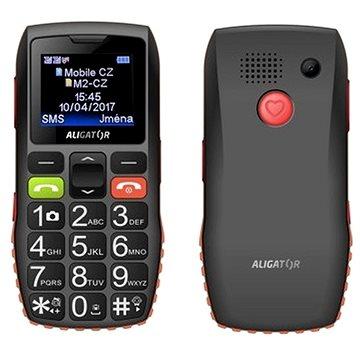 Aligator A440 Senior černo-oranžový + Stolní nabíječka (A440BO)