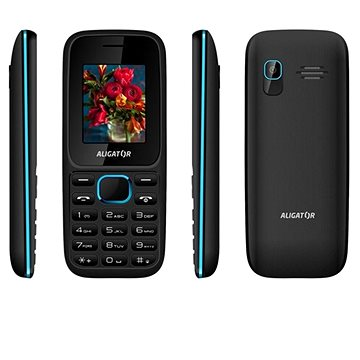 Aligator D200 Dual SIM černo-modrý (AD200BB)