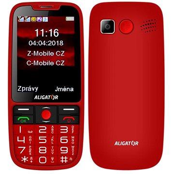 ALIGATOR A890 GPS Senior červená (A890RD)