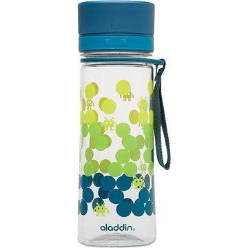 ALADDIN Dětská láhev na vodu AVEO 350ml petrol s potiskem (10-01101-067)