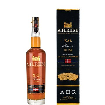 A.H.Riise X.O. Reserve The Thin Blue Line Denmark 21Y 700 Ml 40 % (5712421014706)