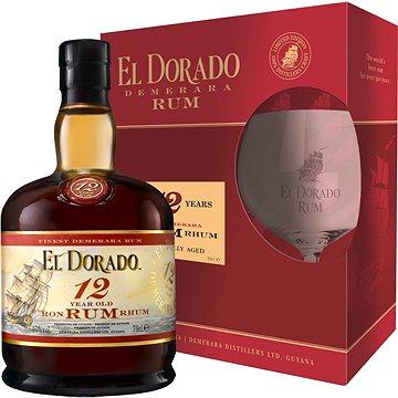 El Dorado 12Y 0,7L 40% + 1X Sklo Gb (8715151128597)