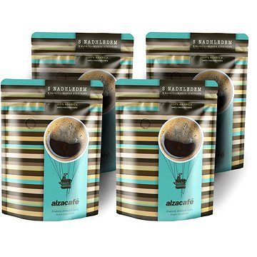 AlzaCafé 1000g (4x250g) Čerstvě pražená 100% Arabica (ALZcafe03)