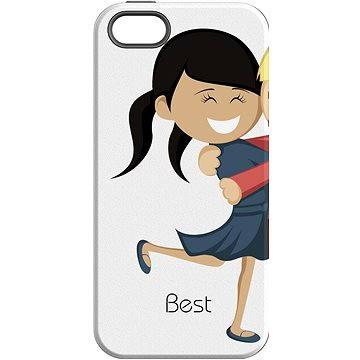 MojePouzdro Nejlepší přítel 1 + ochranné sklo pro iPhone 7 (APP-IPH7SLVS0018CAT-D)
