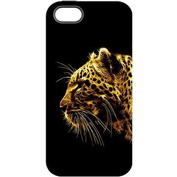 "MojePouzdro ""Jaguár"" + ochranné sklo pro iPhone 5s/SE (APP-IPH5FRA0024CAT-D)"