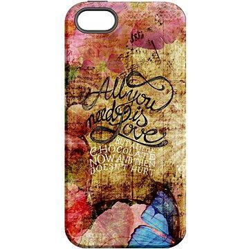 MojePouzdro Láska je Všechno + ochranné sklo pro iPhone 5s/SE (APP-IPH5STA0024CAT-D)