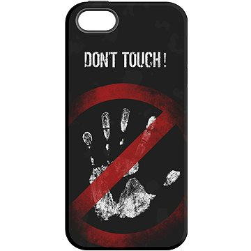"MojePouzdro ""Nesahat !"" + ochranné sklo pro iPhone 5s/SE (APP-IPH5SLVS0007CAT-D)"