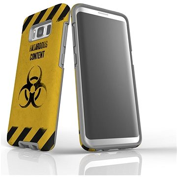 "MojePouzdro ""Na vlastní riziko"" + ochranné sklo pro Samsung Galaxy S8 (SAM-G950SLVS0009CAT-D)"