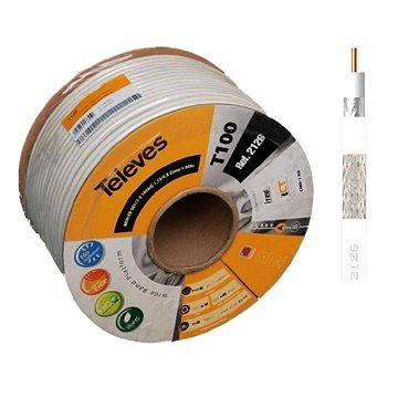 Televés koaxiální kabel 2126-100m (2126-100m white)