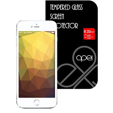 Apei Slim Round Glass Protector pro iPhone 6 Plus White Full (12134)