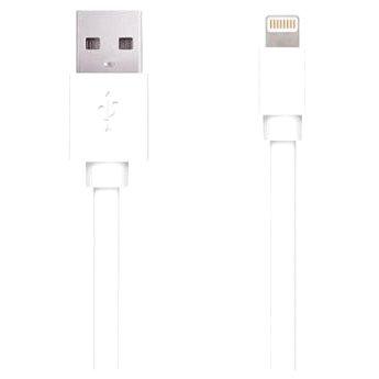 Apei Flat Lightning/USB bílý - 1m (13118)