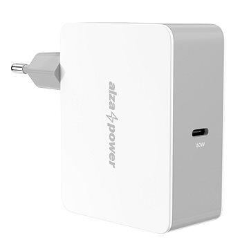 AlzaPower Power Charger PD60C White (APW-CCPD60CW)