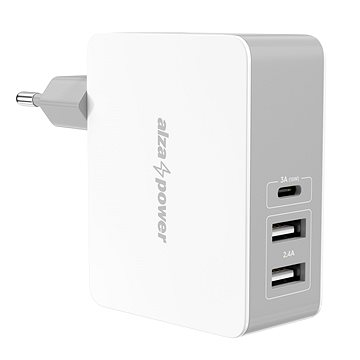 AlzaPower T3C Triple Charger 5.4A White (APW-CCTC3CW)