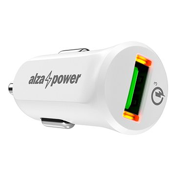 AlzaPower Car Charger X310 Quick Charge 3.0 Bílá (APW-CC1Q301PW)