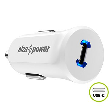 AlzaPower Car Charger P310 Power Delivery Bílá (APW-CC1PD01PW)