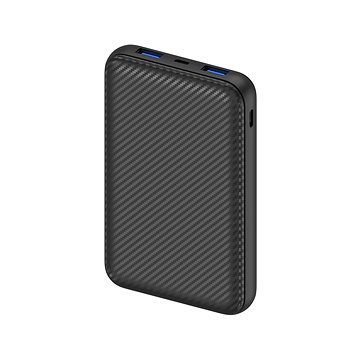 AlzaPower Carbon 10000mAh Fast Charge + PD3.0 Black (APW-PBC10CFB)