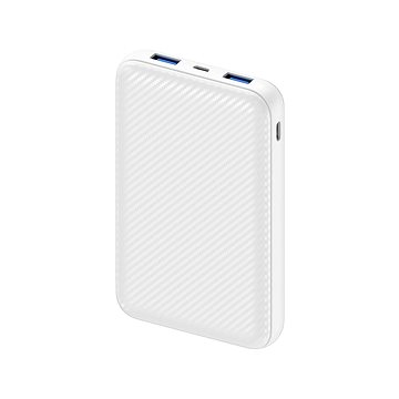 AlzaPower Carbon 10000mAh Fast Charge + PD3.0 bílá (APW-PBC10CFW)