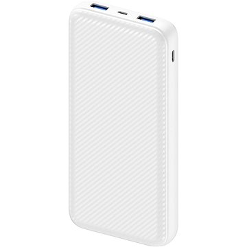 AlzaPower Carbon 20000mAh Fast Charge + PD3.0 bílá (APW-PBC20CFW)