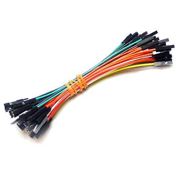 Propojovací vodiče F/F, 50ks (CAB102C4O)