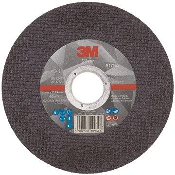 3M Silver Cut-Off Wheel, T41, 125 mm x 1 mm x 22.23 mm (F8090)