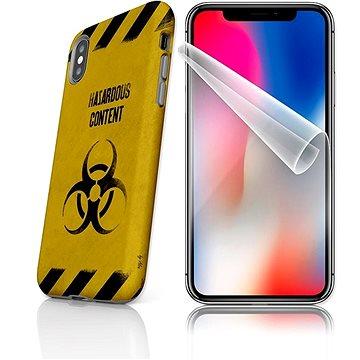 MojePouzdro Tough pro iPhone X SLVS0009 Na vlastní riziko (APP-IPHXSLVS0009CAT-D)