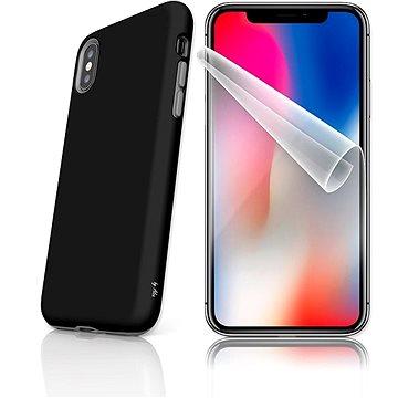 MojePouzdro Tough pro iPhone X SLVS0020 Černo-černá (APP-IPHXSLVS0020CAT-D)