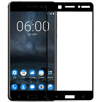 Screenshield NOKIA 6 (2017) Tempered Glass protection (full COVER black) na displej (NOK-TG25DB62017-D)