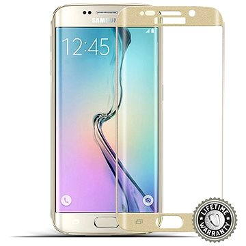 ScreenShield Tempered Glass Samsung Galaxy S6 Edge (G925) Gold (SAM-TGGG925-D)