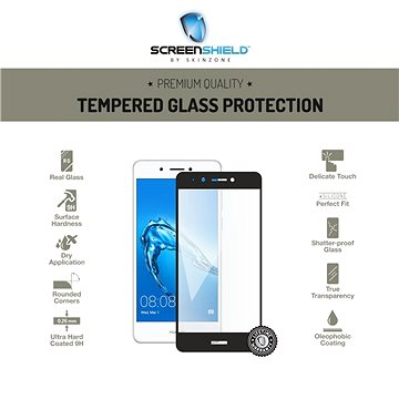 Screenshield HUAWEI Nova Smart DIG-l21 Tempered Glass protection (full COVER black) na displej (HUA-TG25DBNSDIGL21-D)