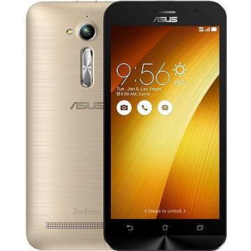 ASUS Zenfone GO ZB500KL zlatý (ZB500KL-3G044WW) + ZDARMA Sluchátka ASUS Fonemate bílé - design headset s pouzdrem Pouzdro na mobilní telefon ASUS Bumper Case černý ZB500KL Digitální předplatné Týden - roční
