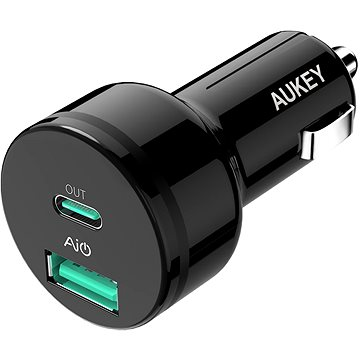 Aukey Adaptive USB-C Charge 2.0 2- Port Car Charger (CC-Y7)