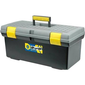 """VOREL Box na nářadí plastový 20"""" 2 zámky šedé víko 50cm (TO-78802)"""